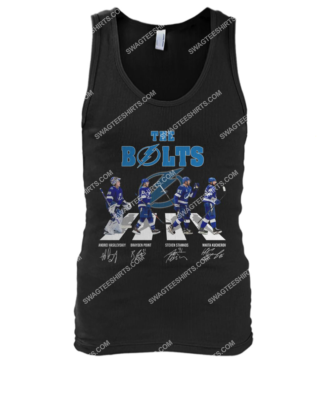 abbey road the bolts tampa bay lightning signatures tank top 1
