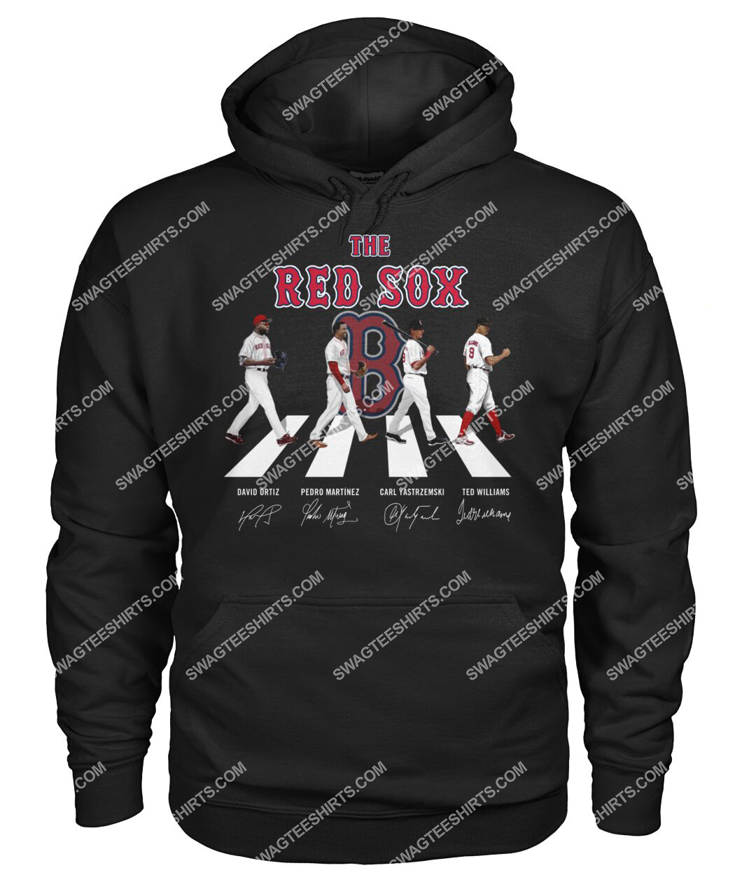 abbey road the boston red sox signatures hoodie 1