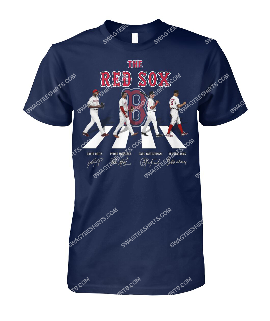 abbey road the boston red sox signatures tshirt 1