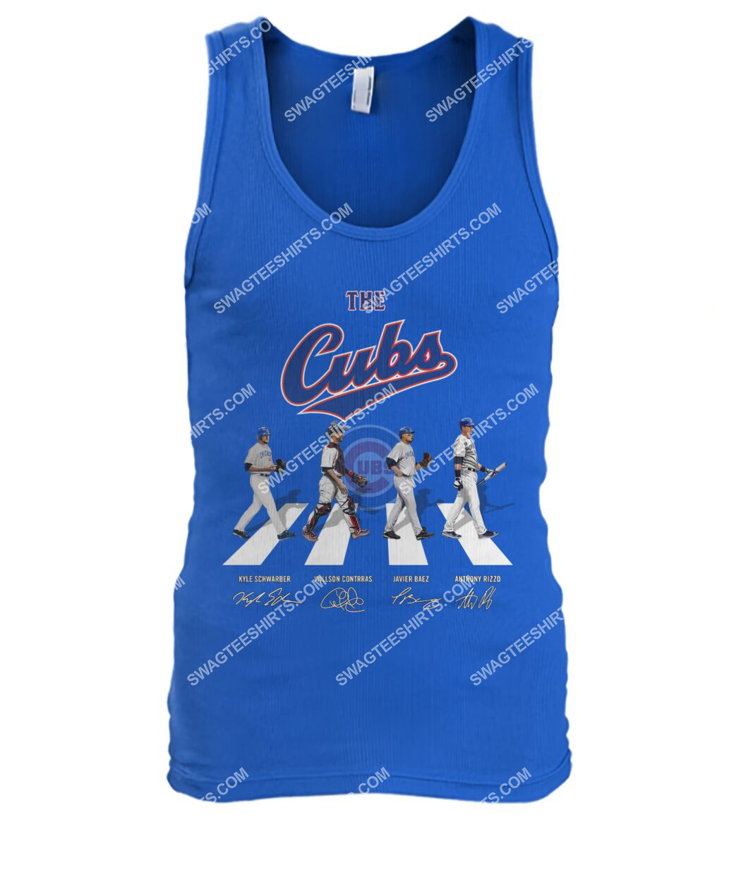 abbey road the chicago cubs signatures tank top 1