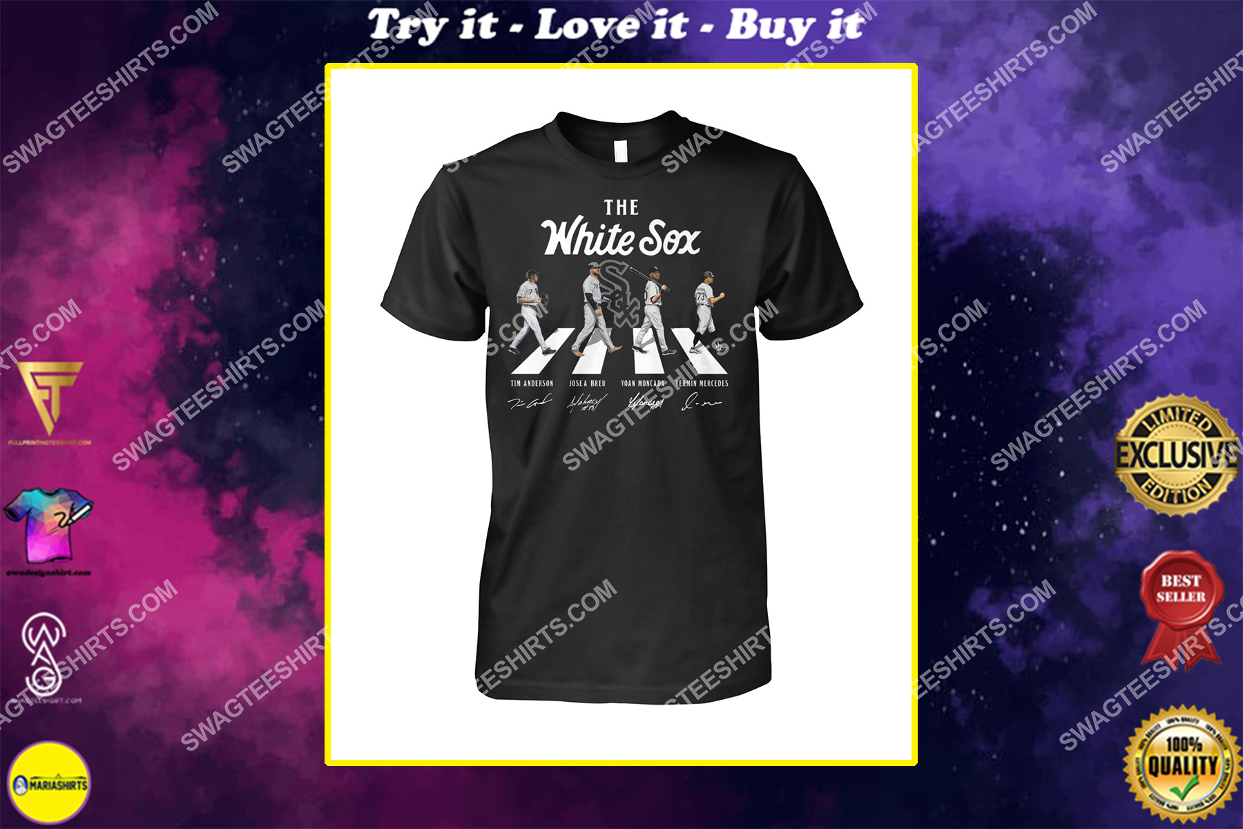 abbey road the chicago white sox signatures shirt