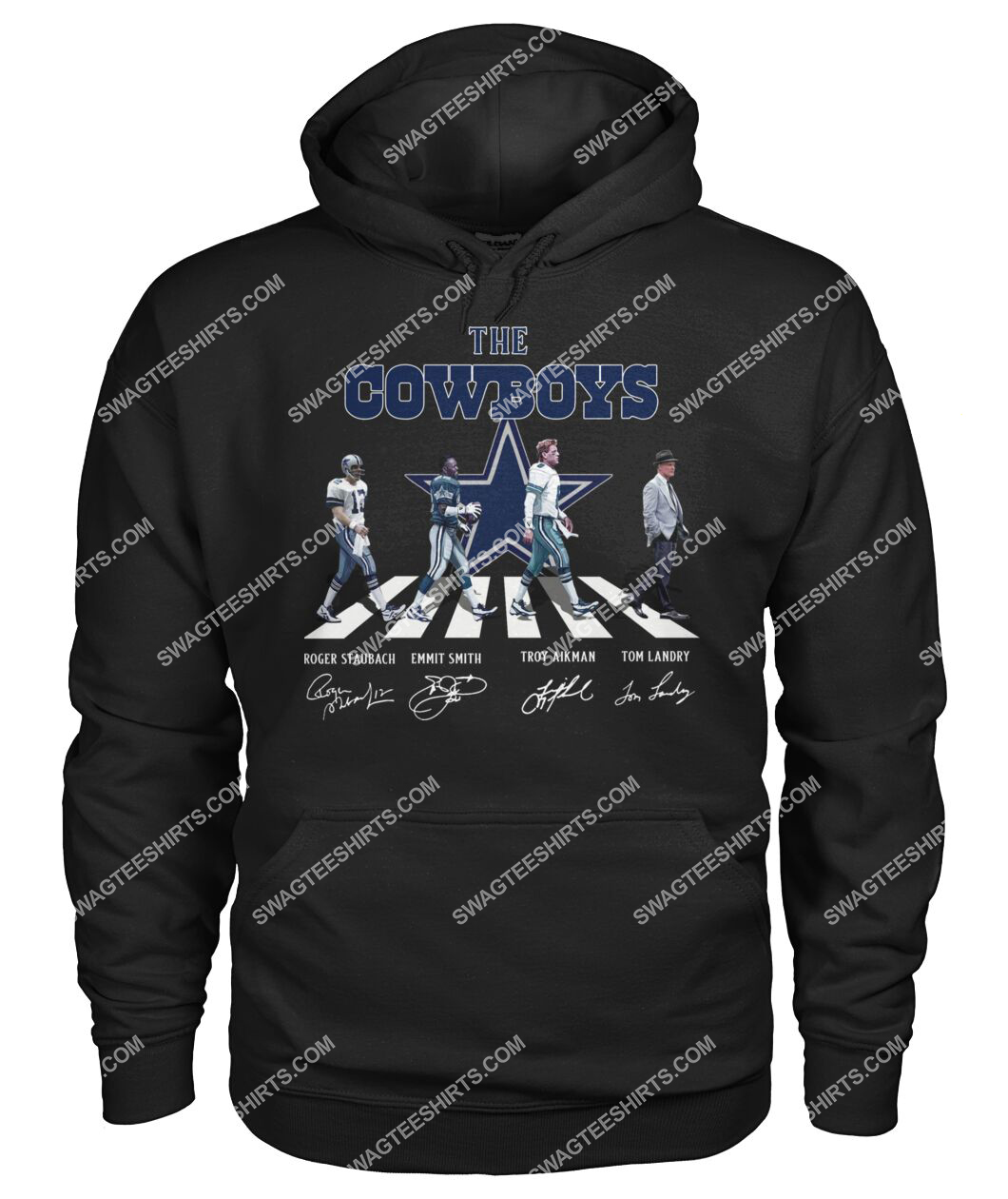 abbey road the dallas cowboys signatures hoodie 1