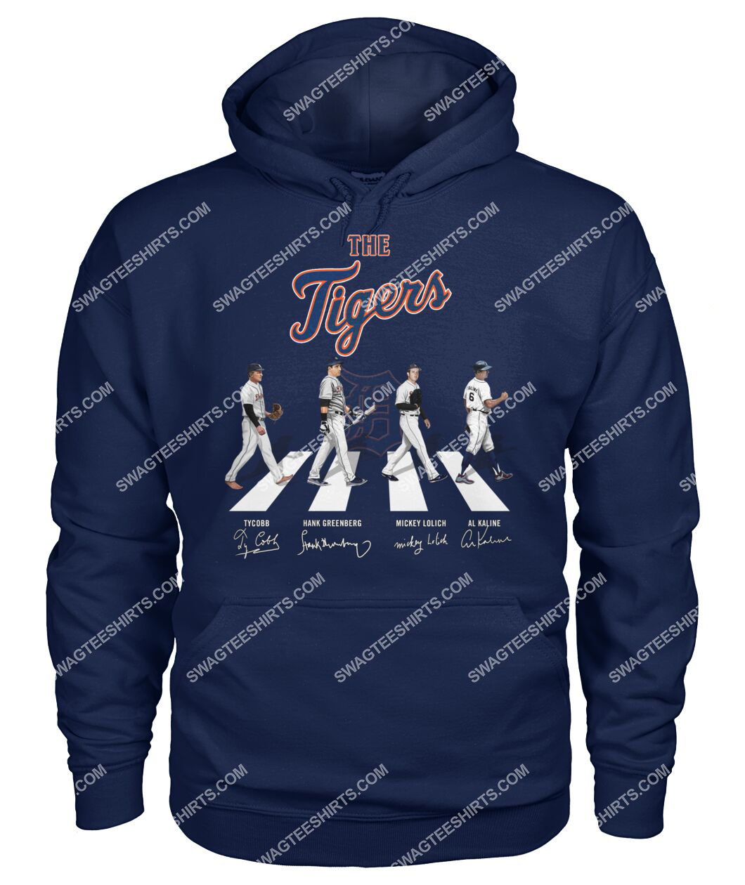 abbey road the detroit tigers signatures hoodie 1