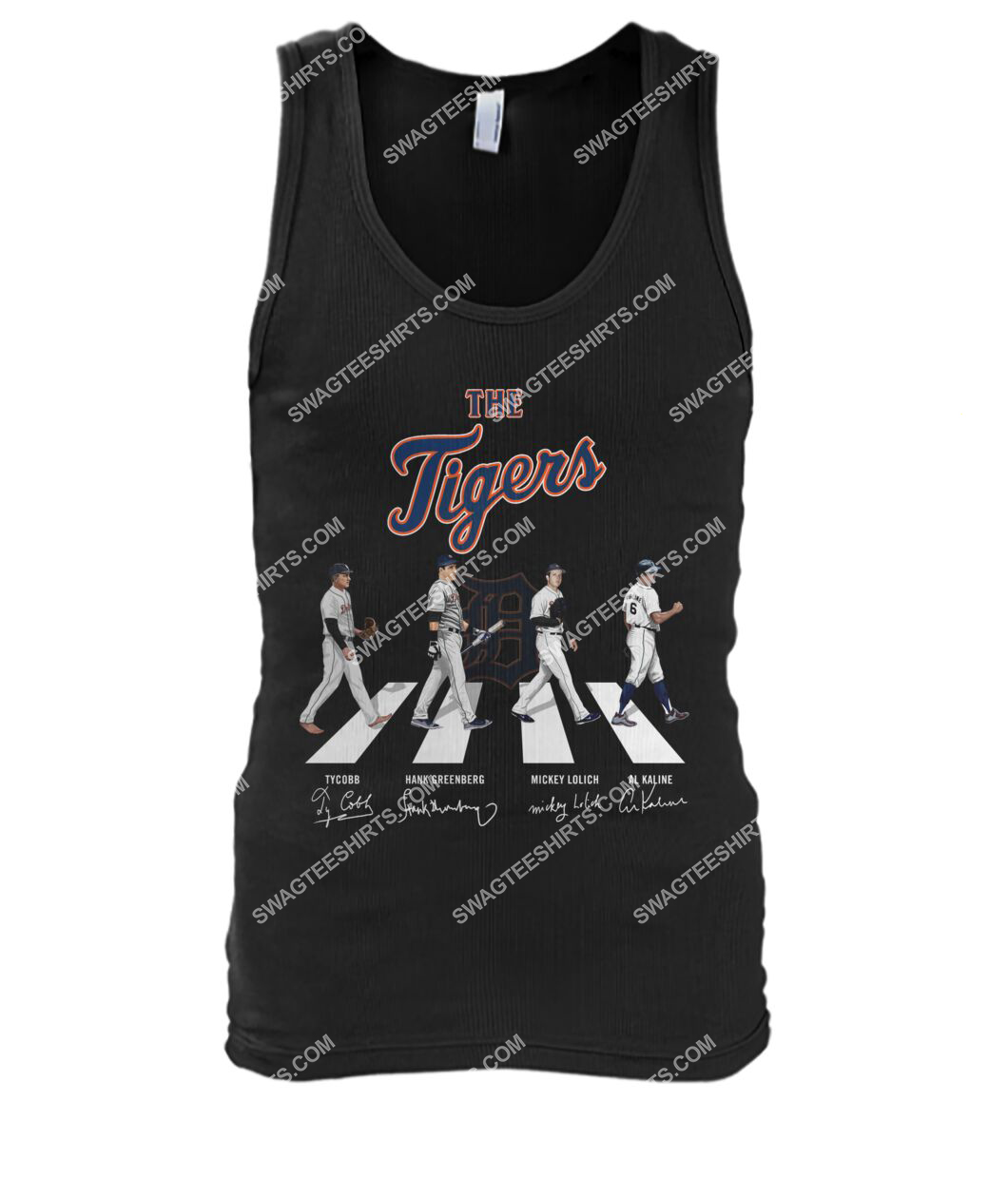 abbey road the detroit tigers signatures tank top 1