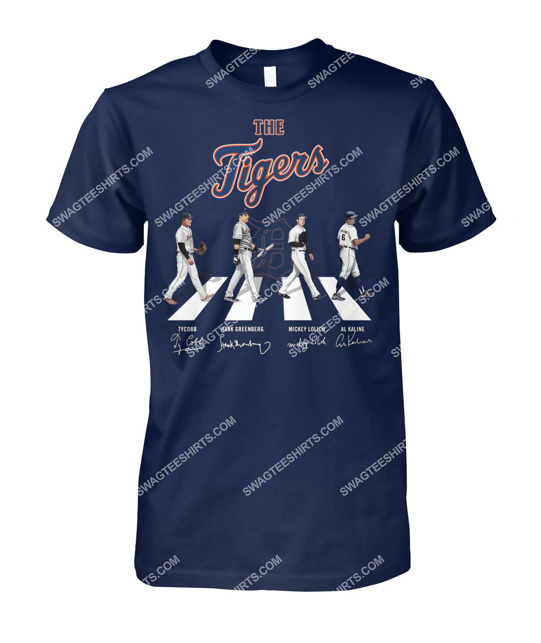 abbey road the detroit tigers signatures tshirt 1