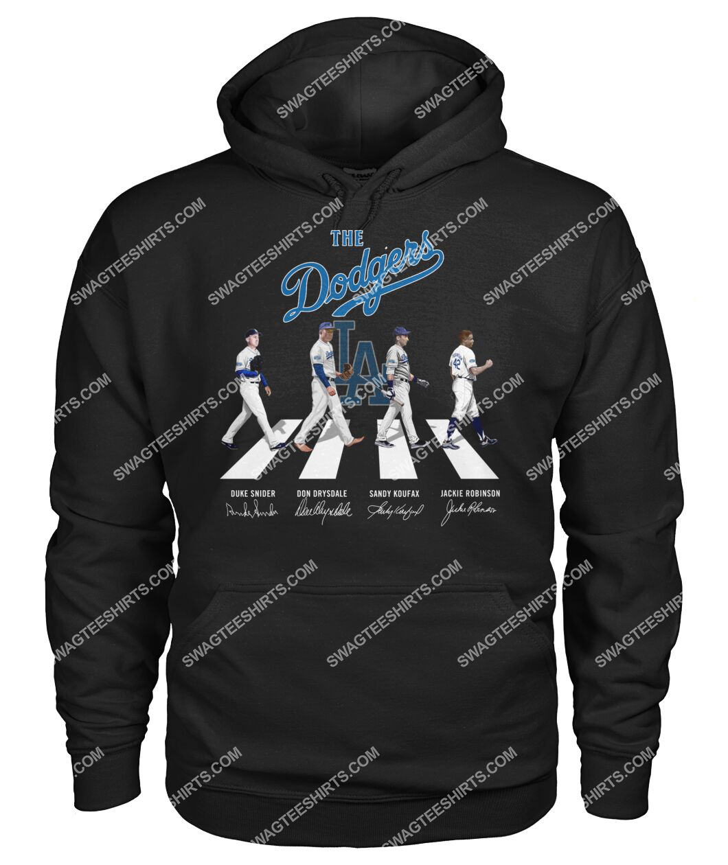 abbey road the los angeles dodgers signatures hoodie 1