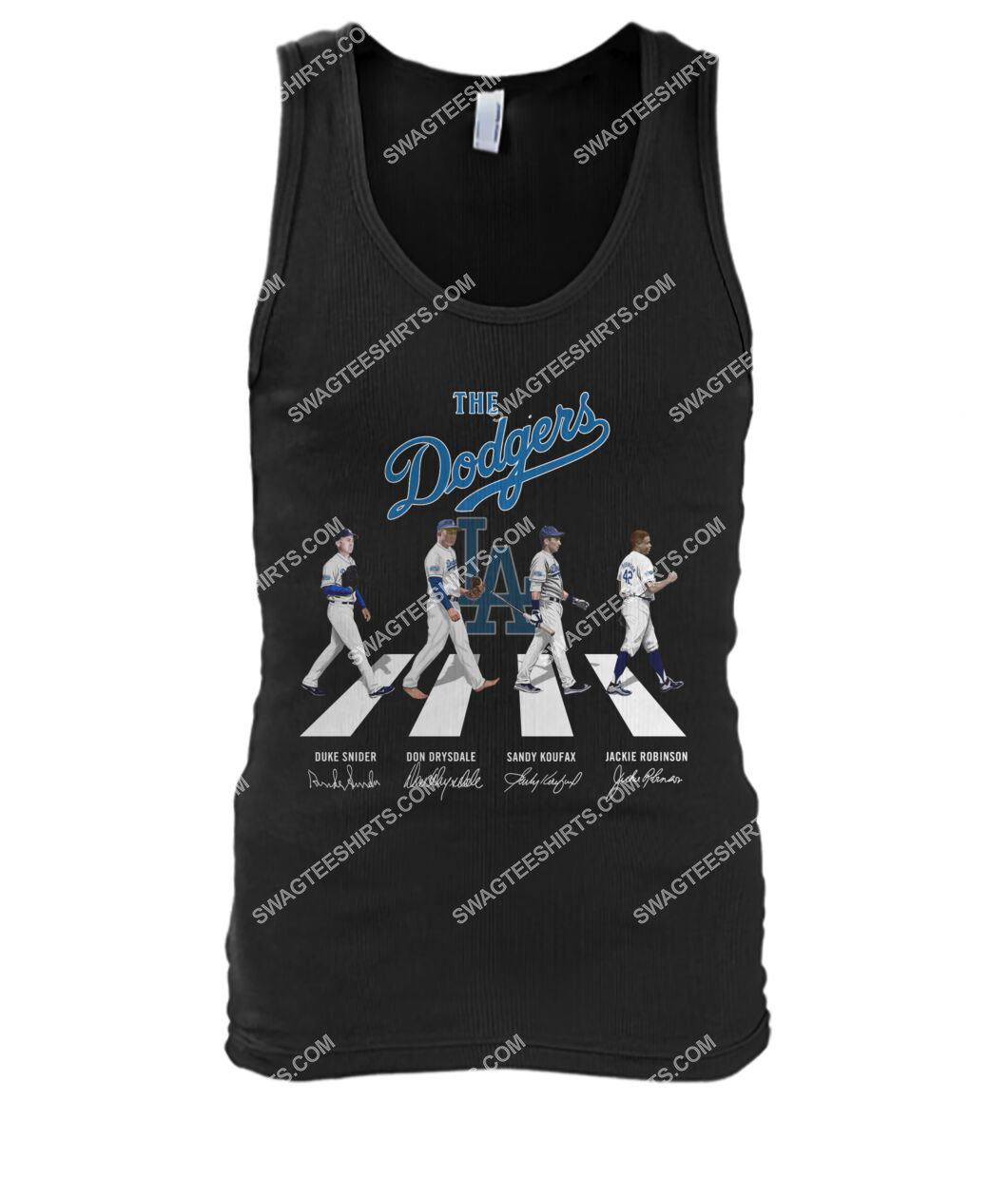 abbey road the los angeles dodgers signatures tank top 1