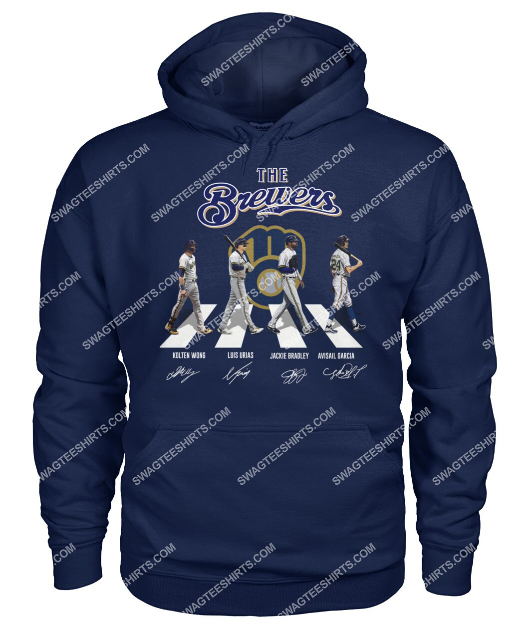 abbey road the milwaukee brewers signatures hoodie 1