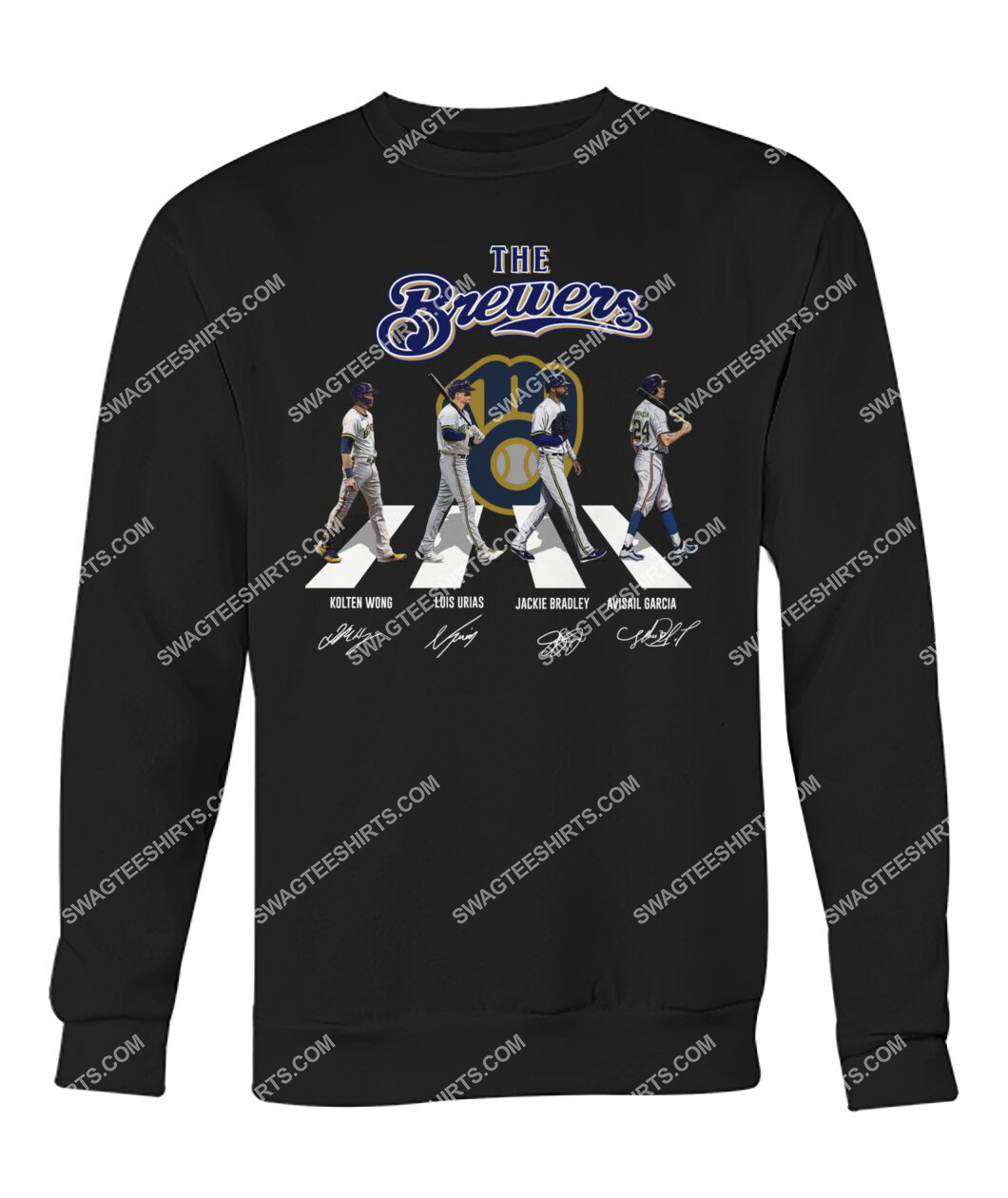 abbey road the milwaukee brewers signatures sweatshirt 1