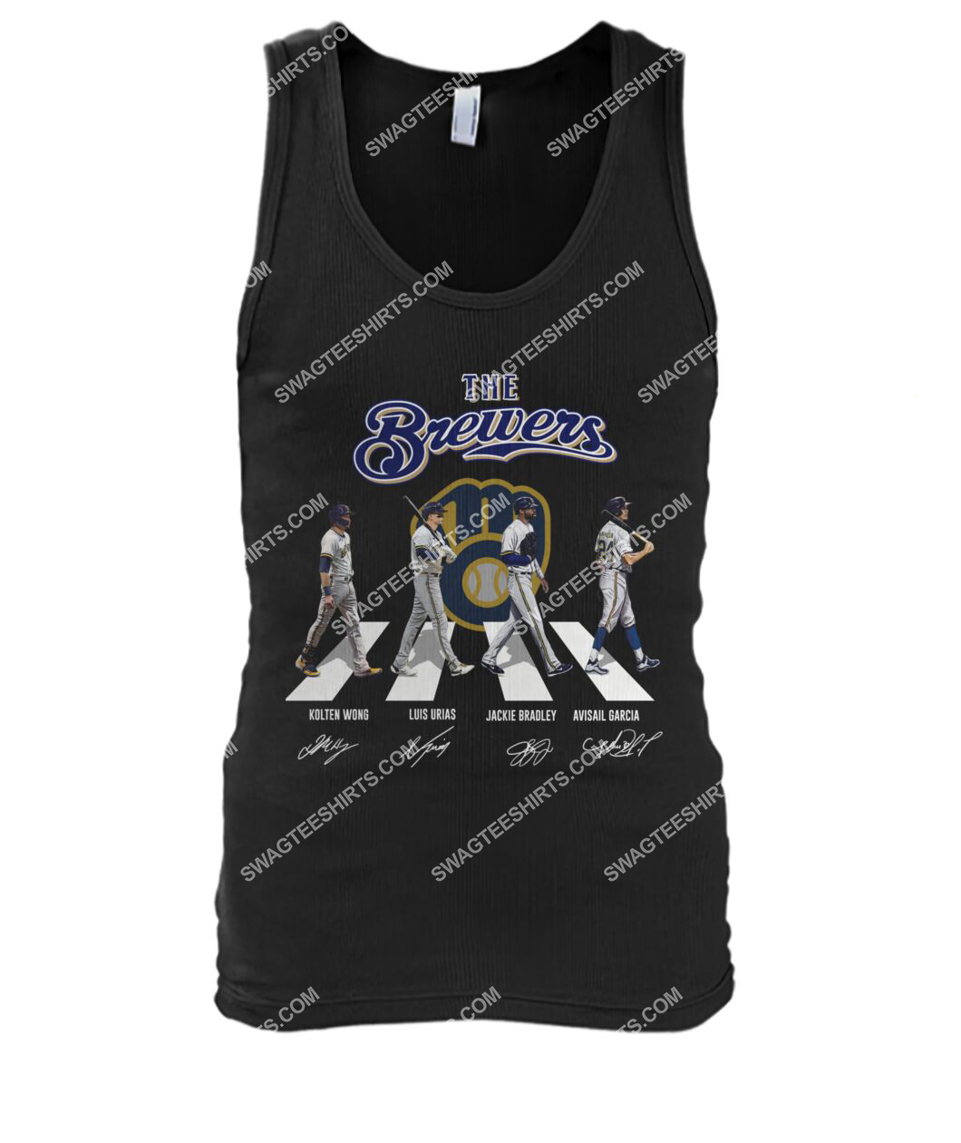 abbey road the milwaukee brewers signatures tank top 1