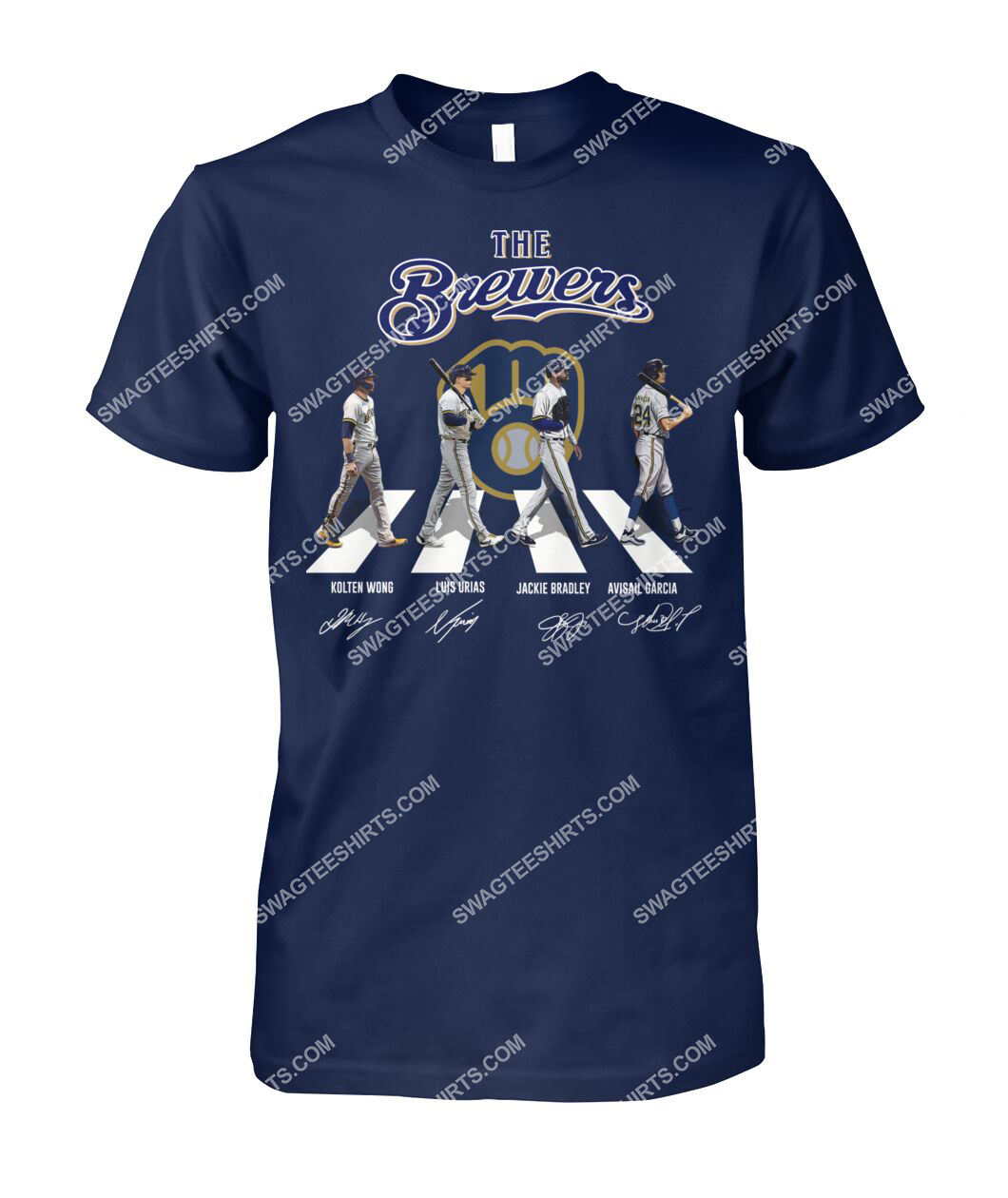 abbey road the milwaukee brewers signatures tshirt 1