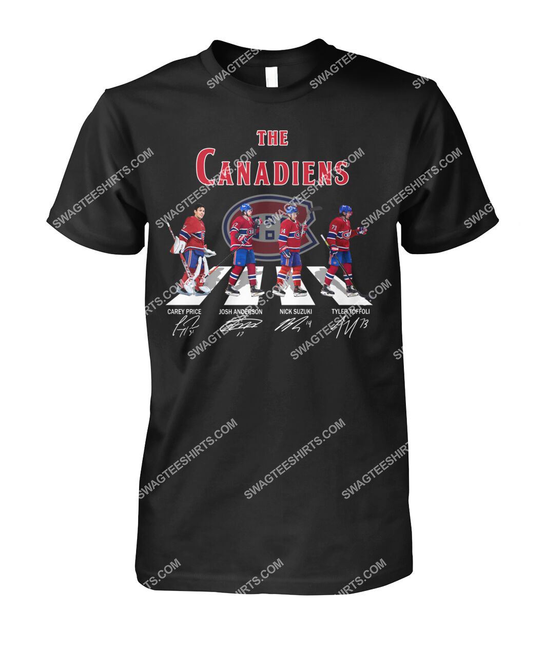 abbey road the montreal canadiens signatures tshirt 1