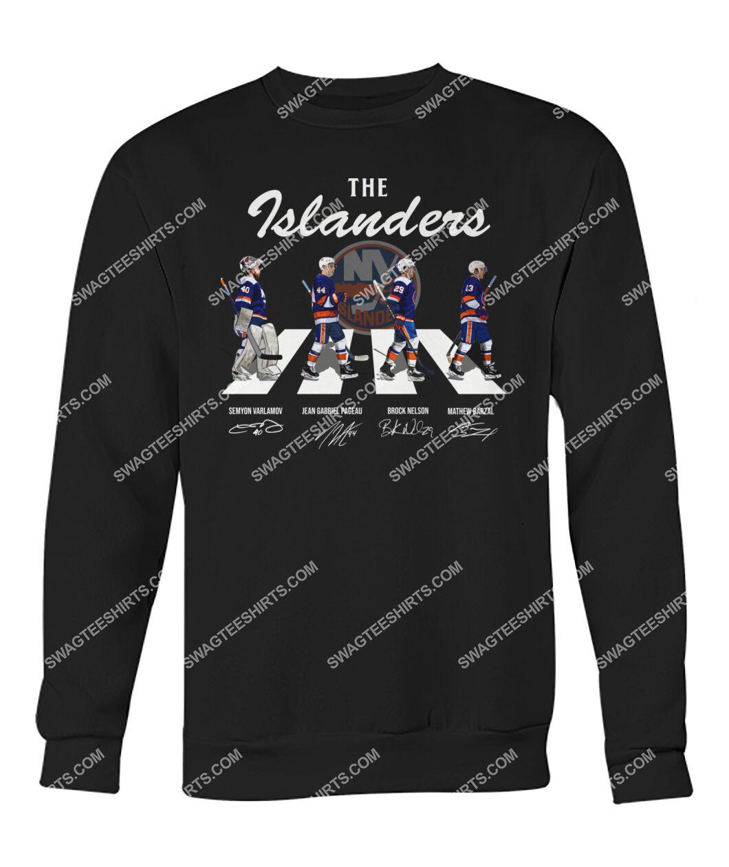 abbey road the new york islanders signatures sweatshirt 1