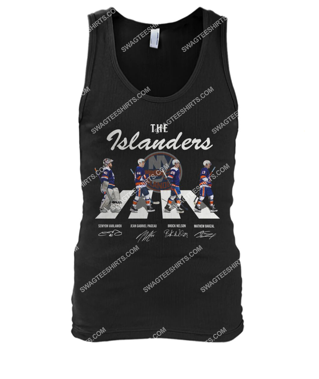 abbey road the new york islanders signatures tank top 1