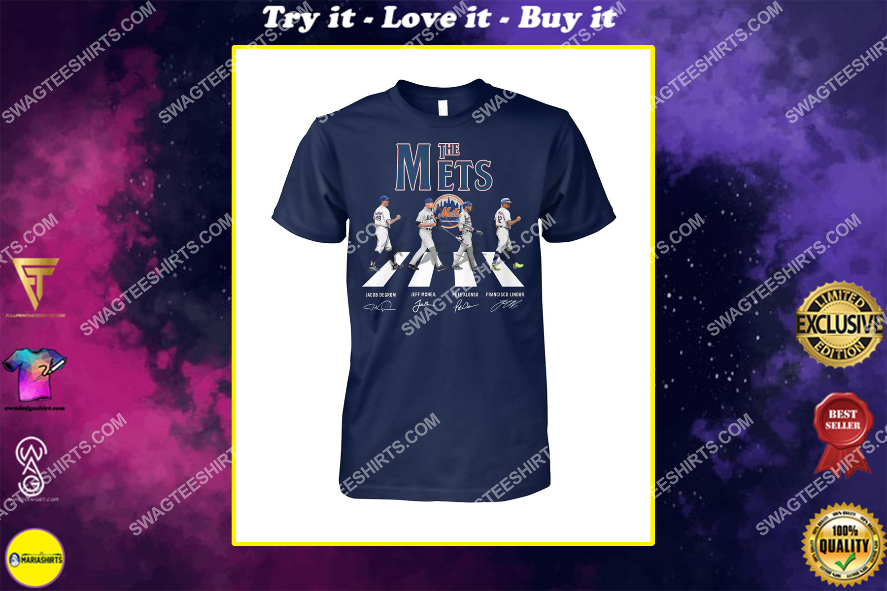 abbey road the new york mets signatures shirt
