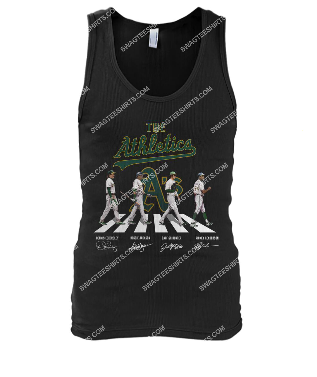 abbey road the oakland athletics signatures tank top 1