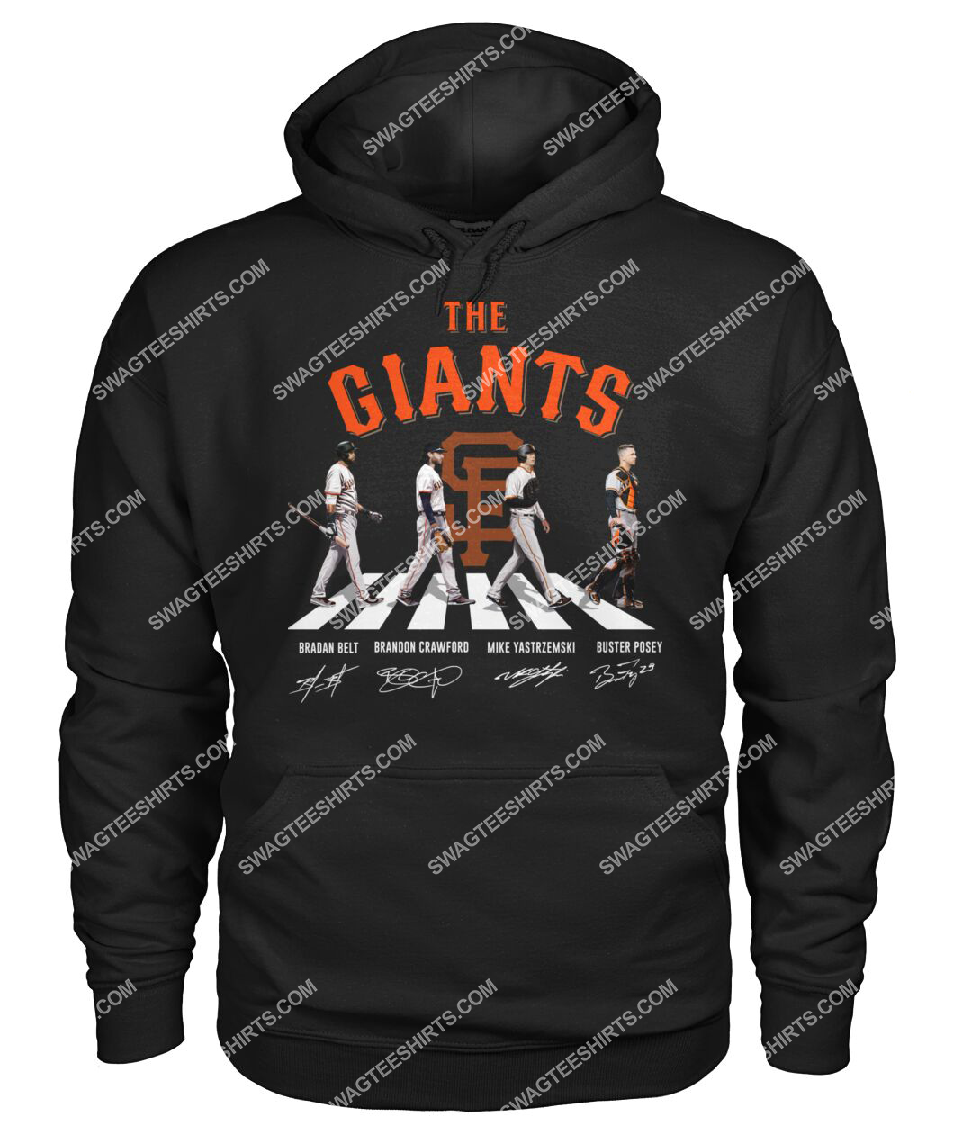 abbey road the san francisco giants signatures hoodie 1
