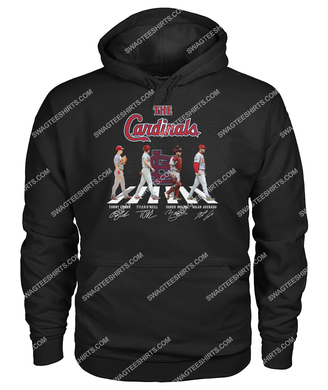 abbey road the st louis cardinals signatures hoodie 1