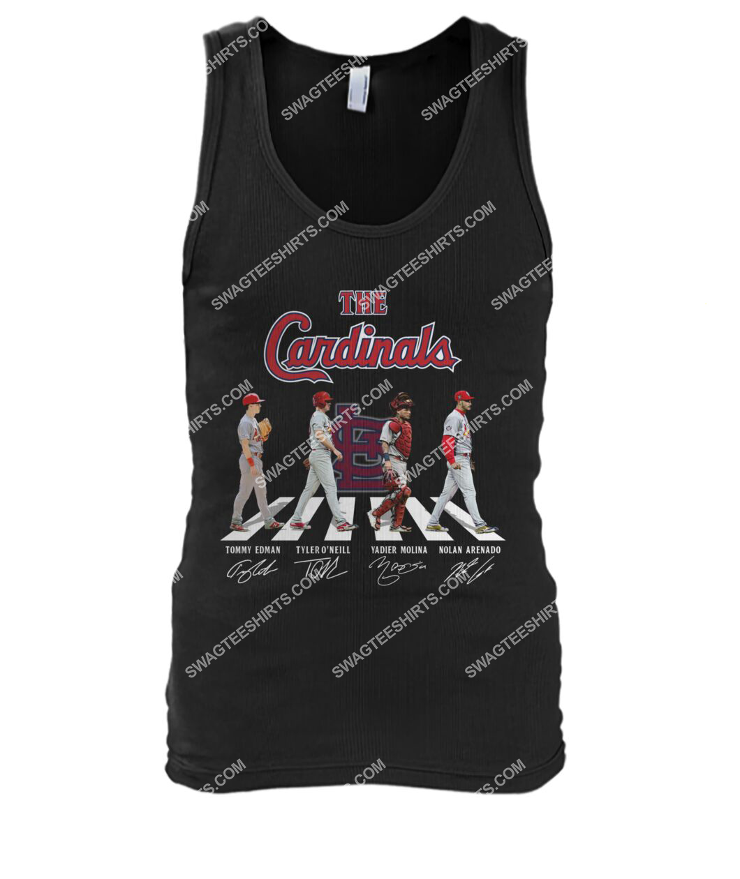 abbey road the st louis cardinals signatures tank top 1
