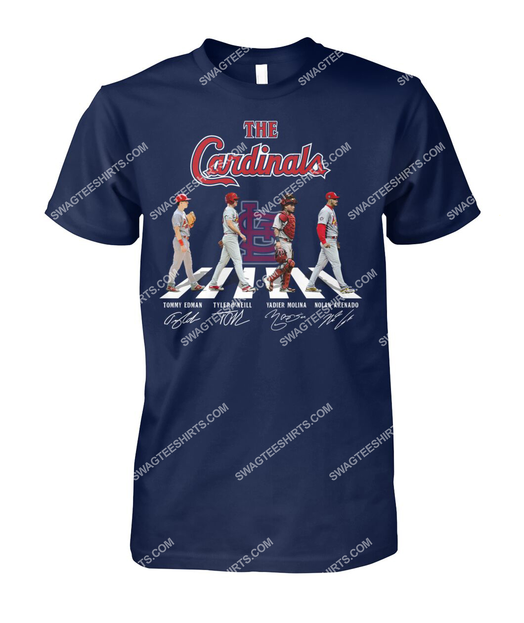 abbey road the st louis cardinals signatures tshirt 1