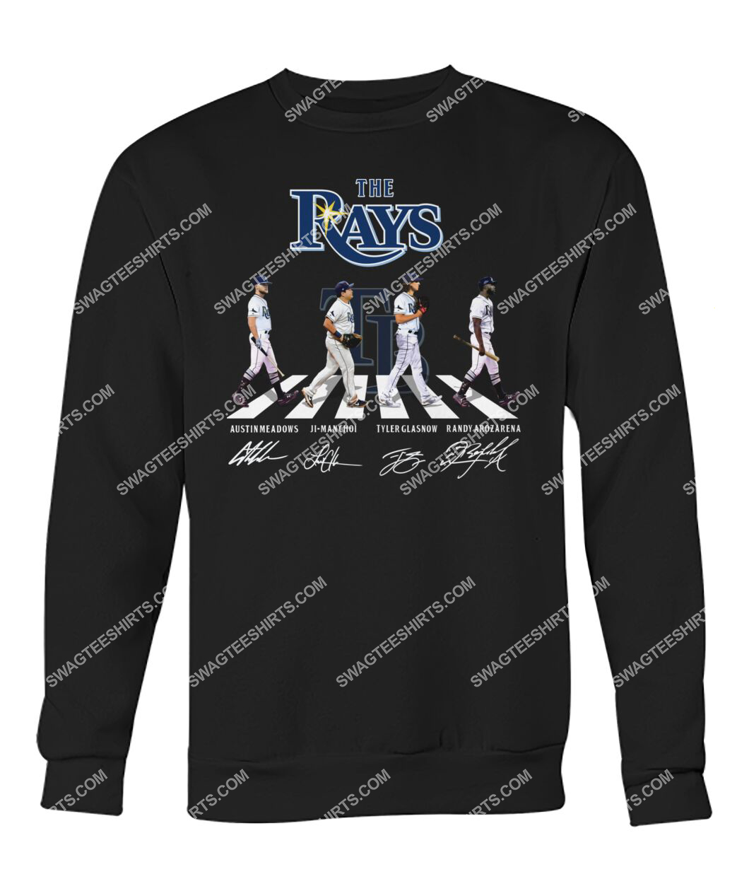 abbey road the tampa bay rays signatures sweatshirt 1