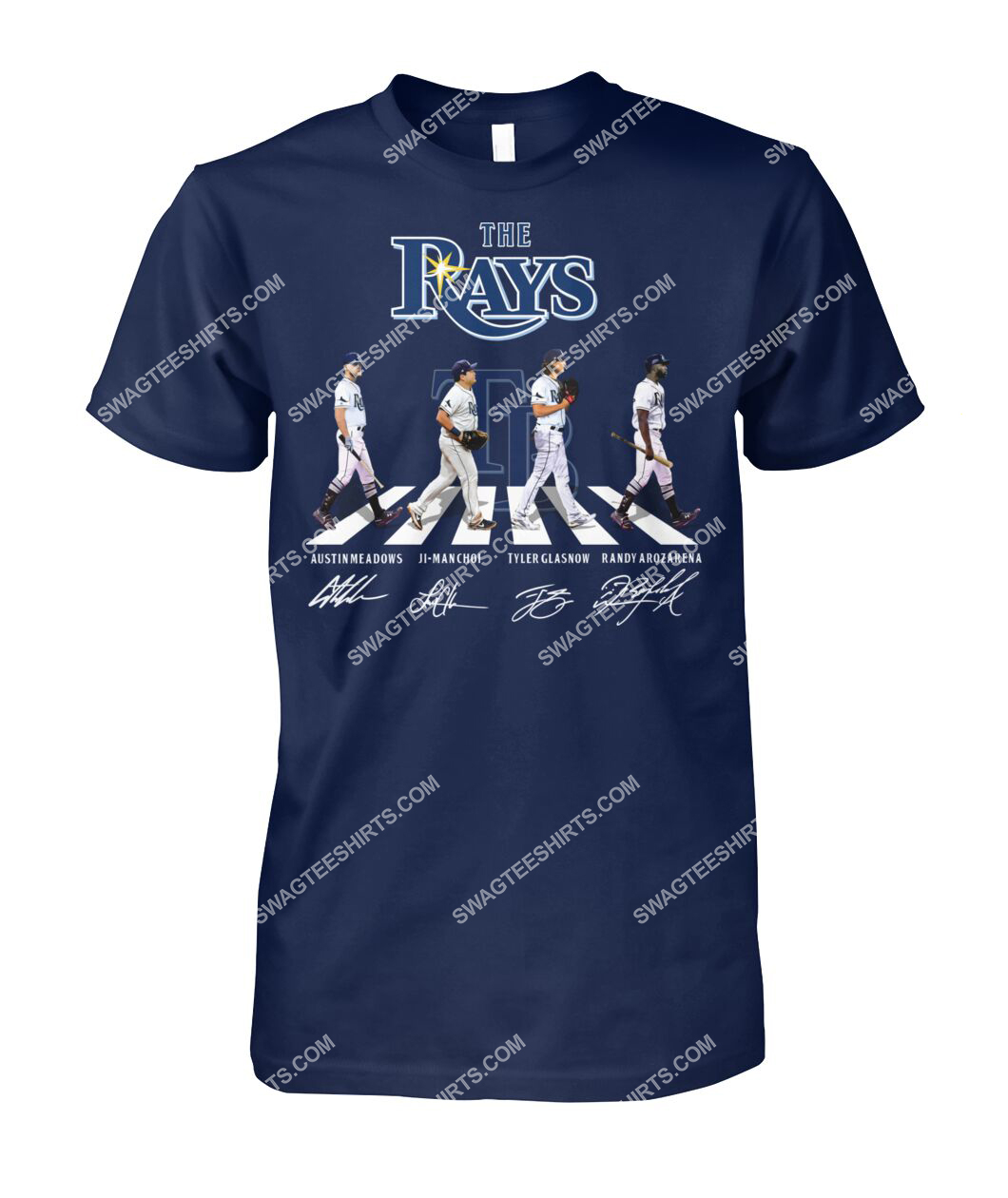 abbey road the tampa bay rays signatures tshirt 1