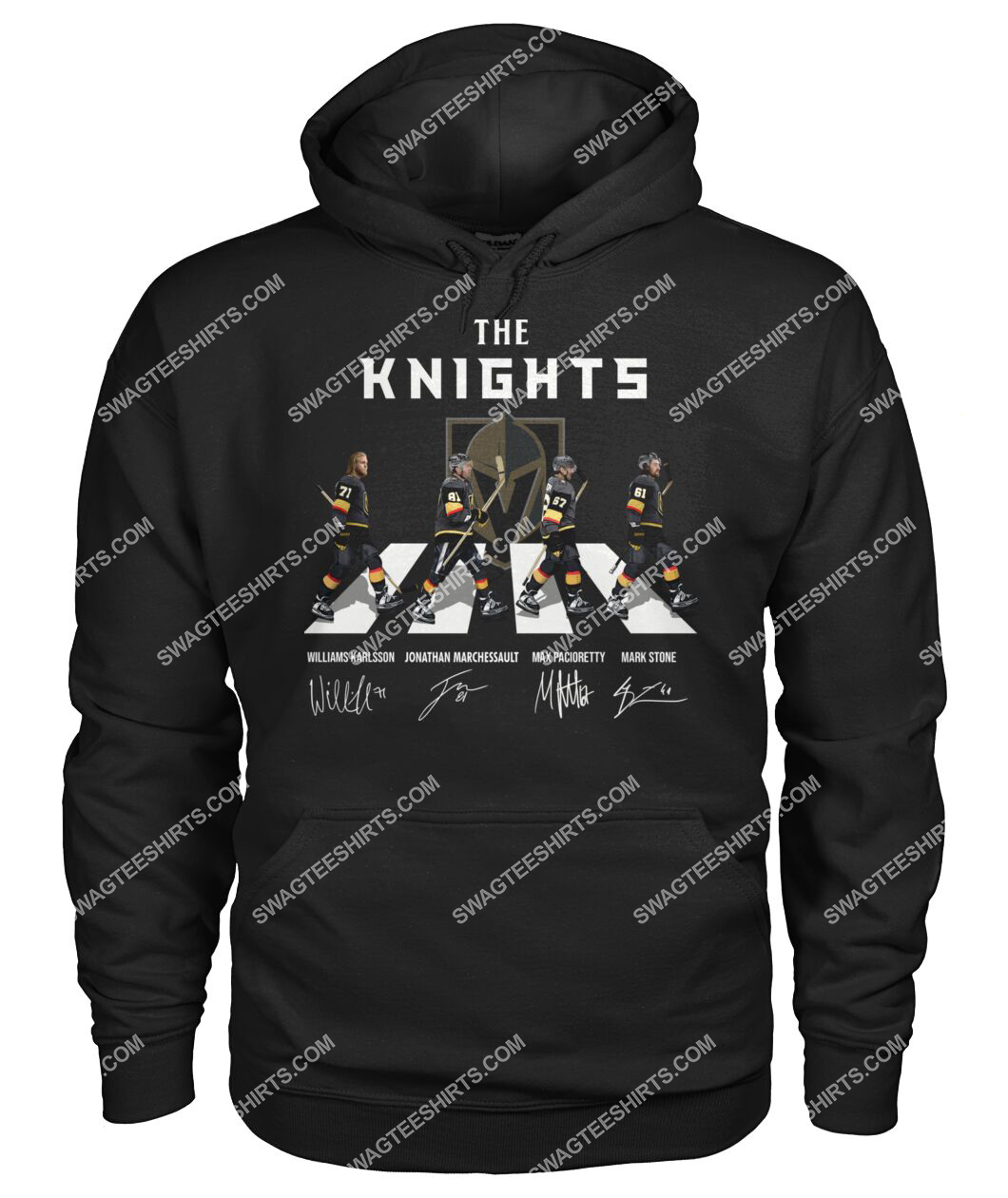 abbey road the vegas golden knights signatures hoodie 1