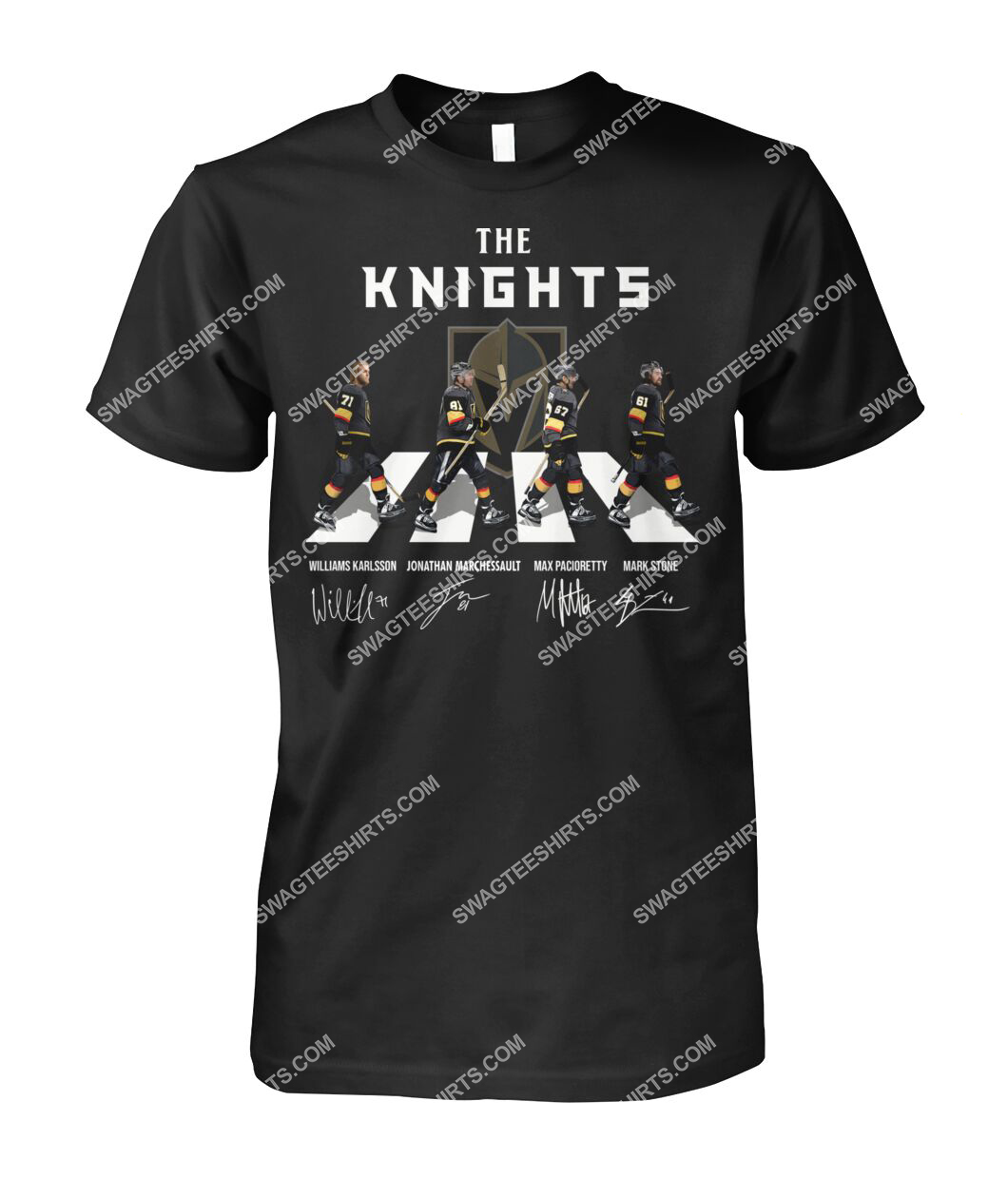 abbey road the vegas golden knights signatures tshirt 1