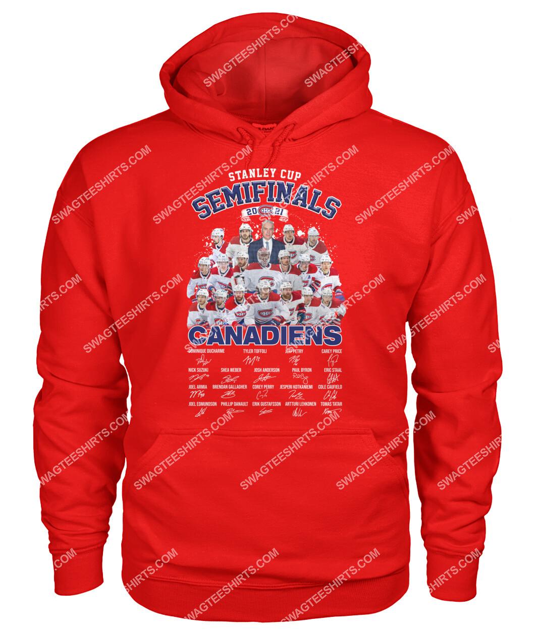 astanley cup semifinals 2021 montreal canadiens signatures hoodie 1