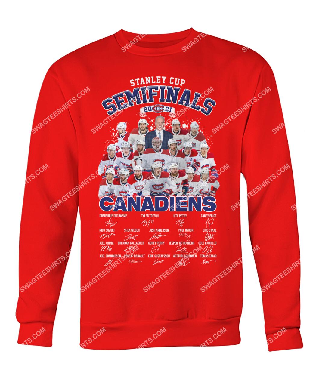astanley cup semifinals 2021 montreal canadiens signatures sweatshirt 1