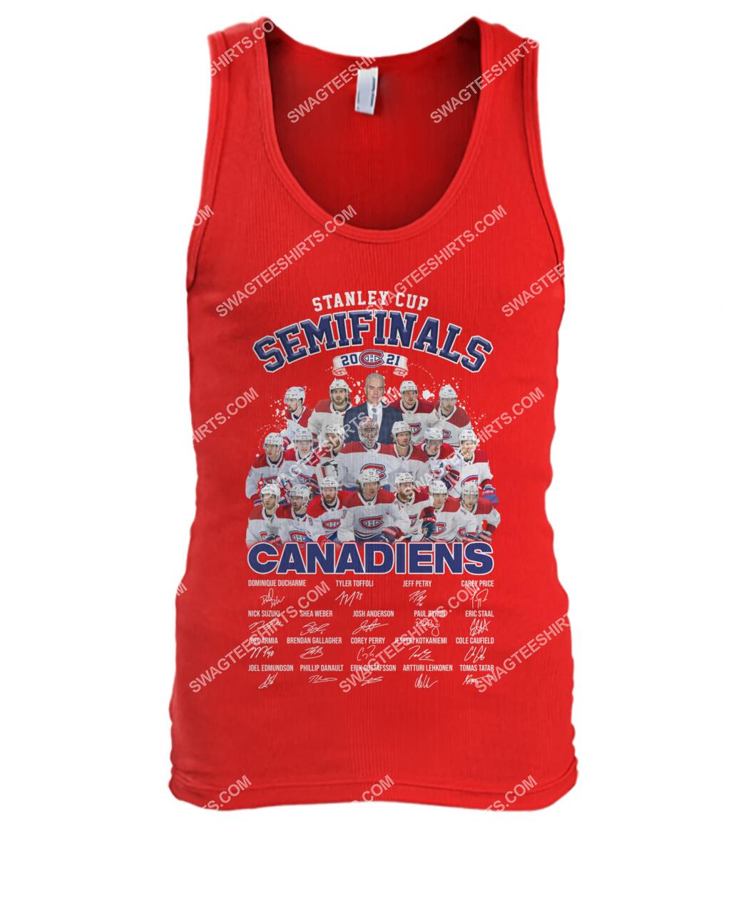 astanley cup semifinals 2021 montreal canadiens signatures tank top 1