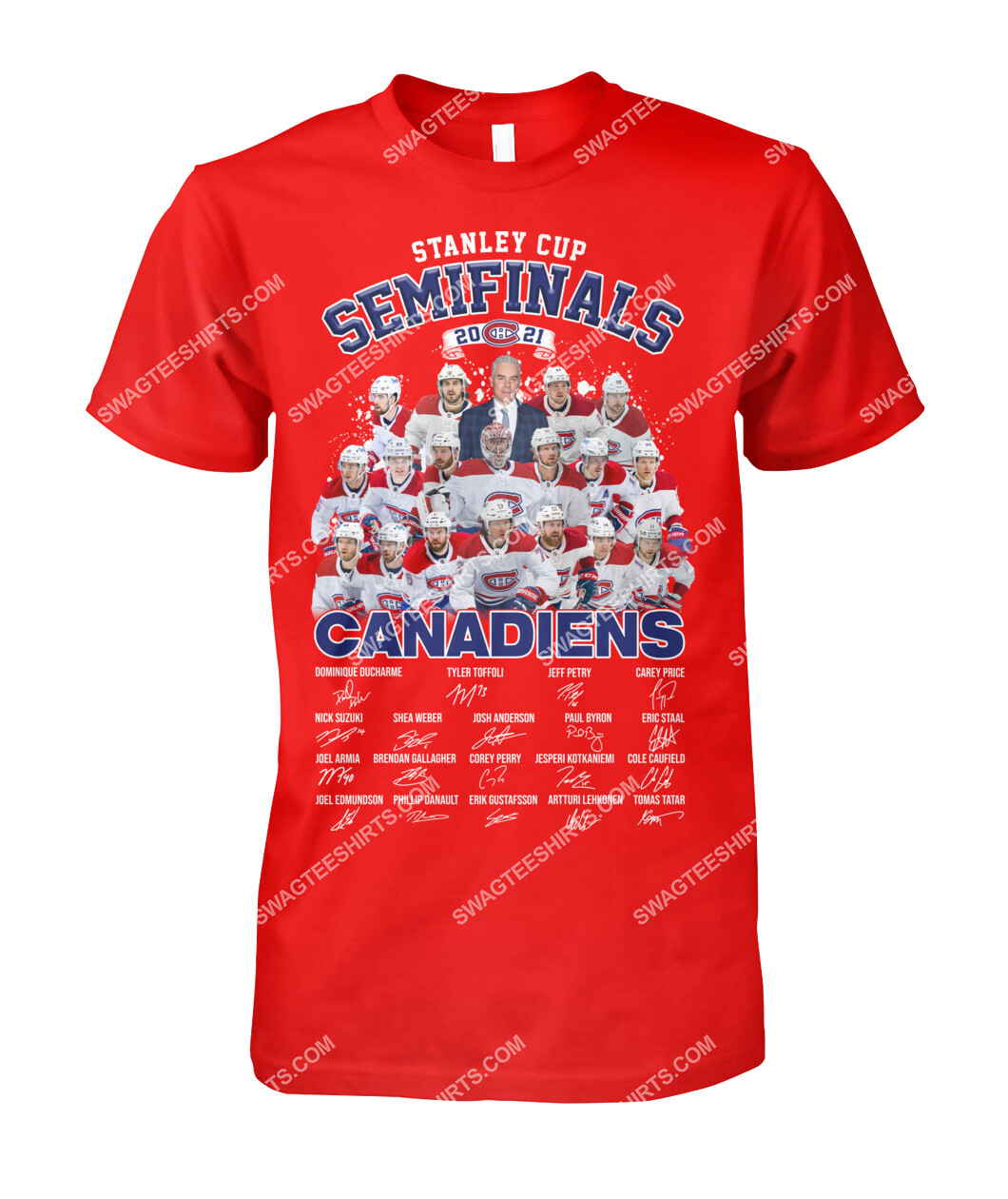 astanley cup semifinals 2021 montreal canadiens signatures tshirt 1