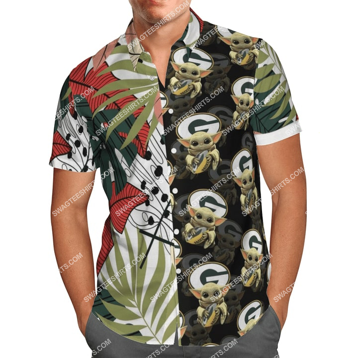 baby yoda green bay packers full printing hawaiian shirt 2(1)