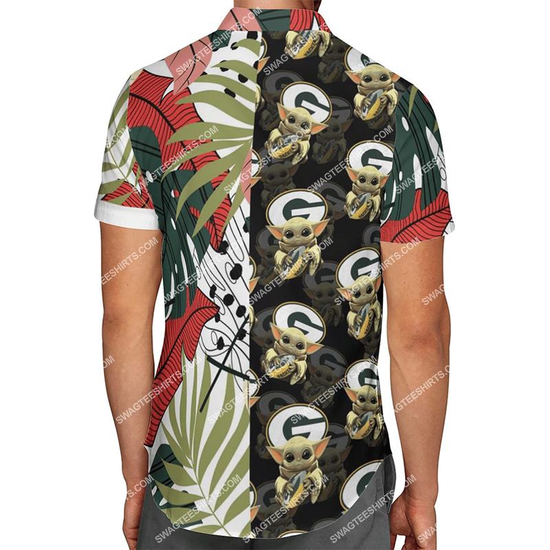 baby yoda green bay packers full printing hawaiian shirt 3(1)