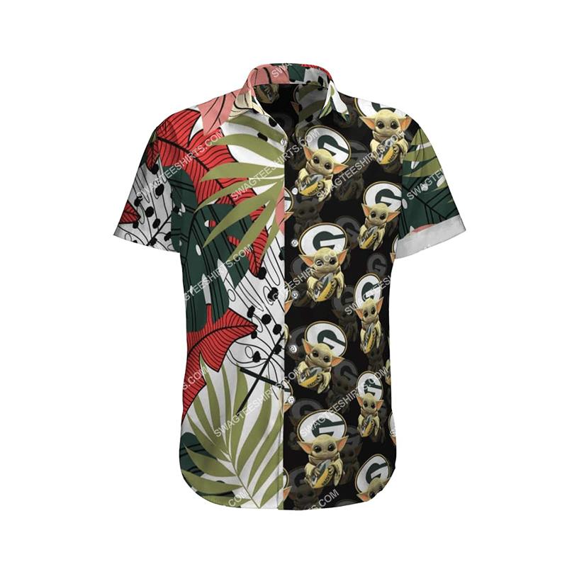 baby yoda green bay packers full printing hawaiian shirt 4(1)