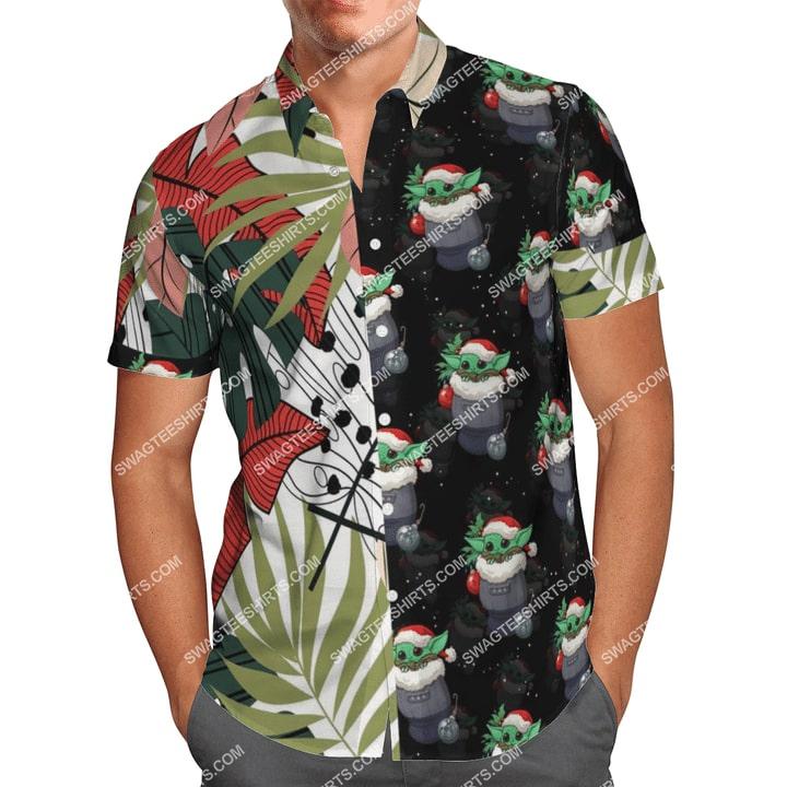 baby yoda r2-d2 chirstmas time full printing hawaiian shirt 2(1)