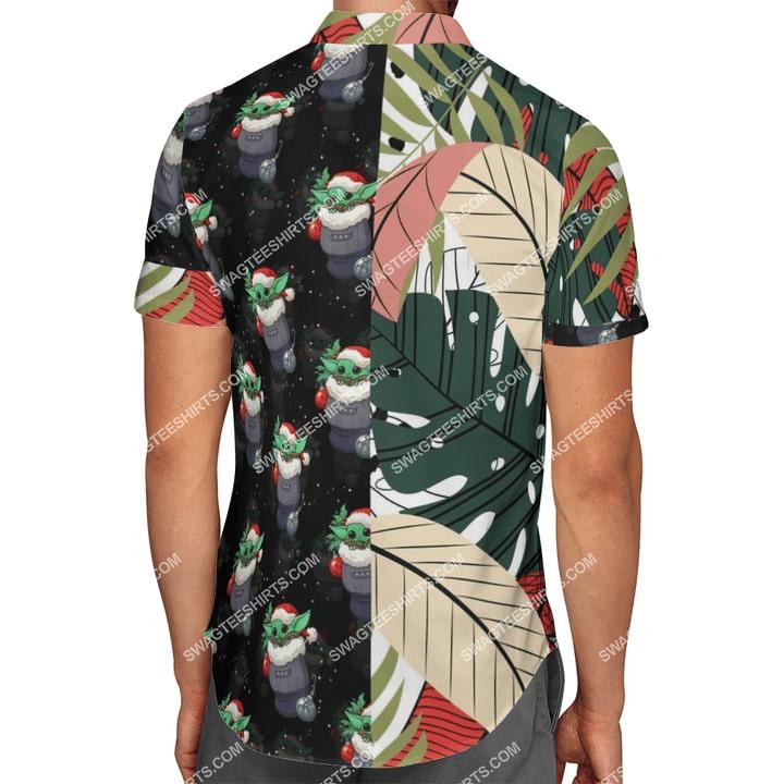 baby yoda r2-d2 chirstmas time full printing hawaiian shirt 3(1)