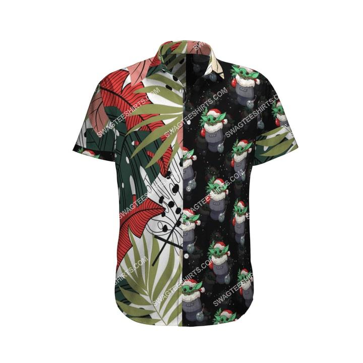 baby yoda r2-d2 chirstmas time full printing hawaiian shirt 4(1)