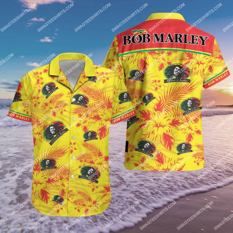 bob marley singer all over print hawaiian shirt 2(1)