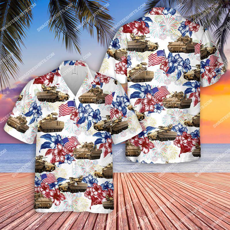 bradley fighting vehicle 4th of july all over print hawaiian shirt 2(1) - Copy