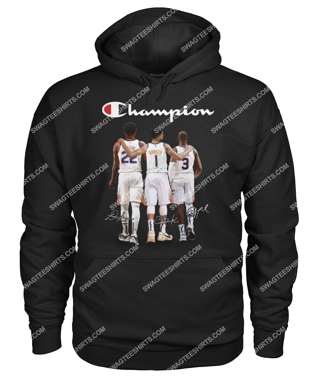champion chris paul devin booker and deandre ayton signatures hoodie 1