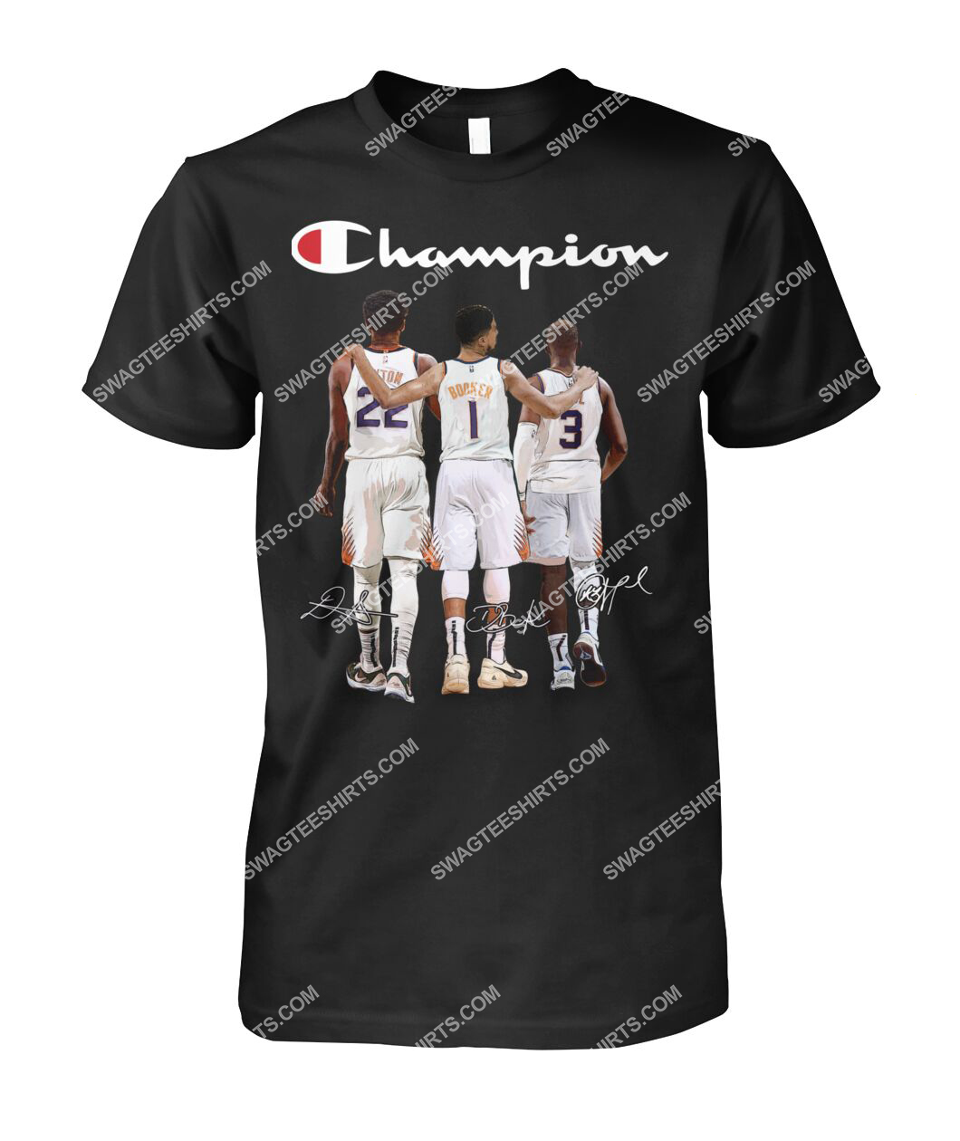 champion chris paul devin booker and deandre ayton signatures tshirt 1