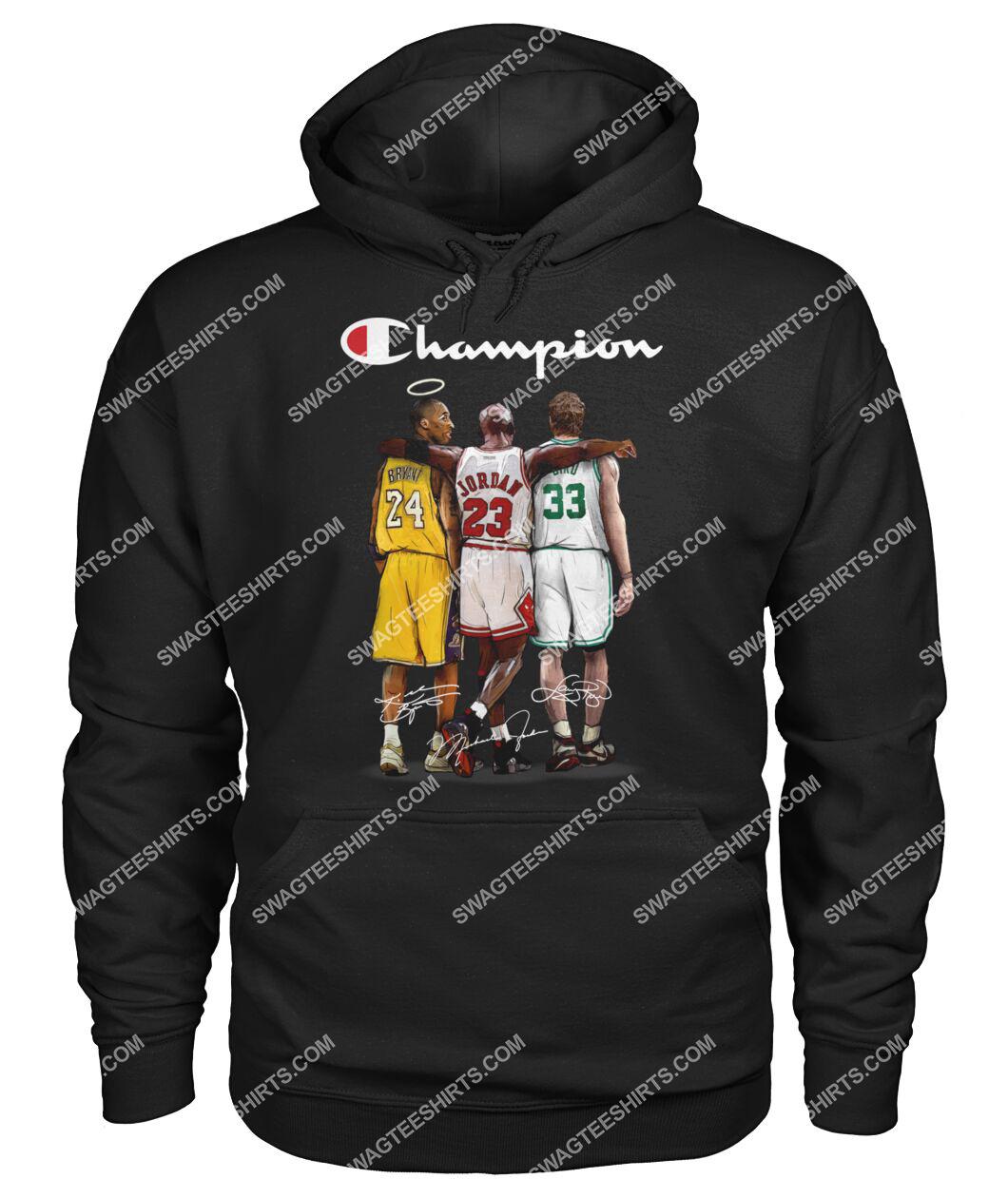 champion kobe bryant michael jordan and larry bird hoodie 1
