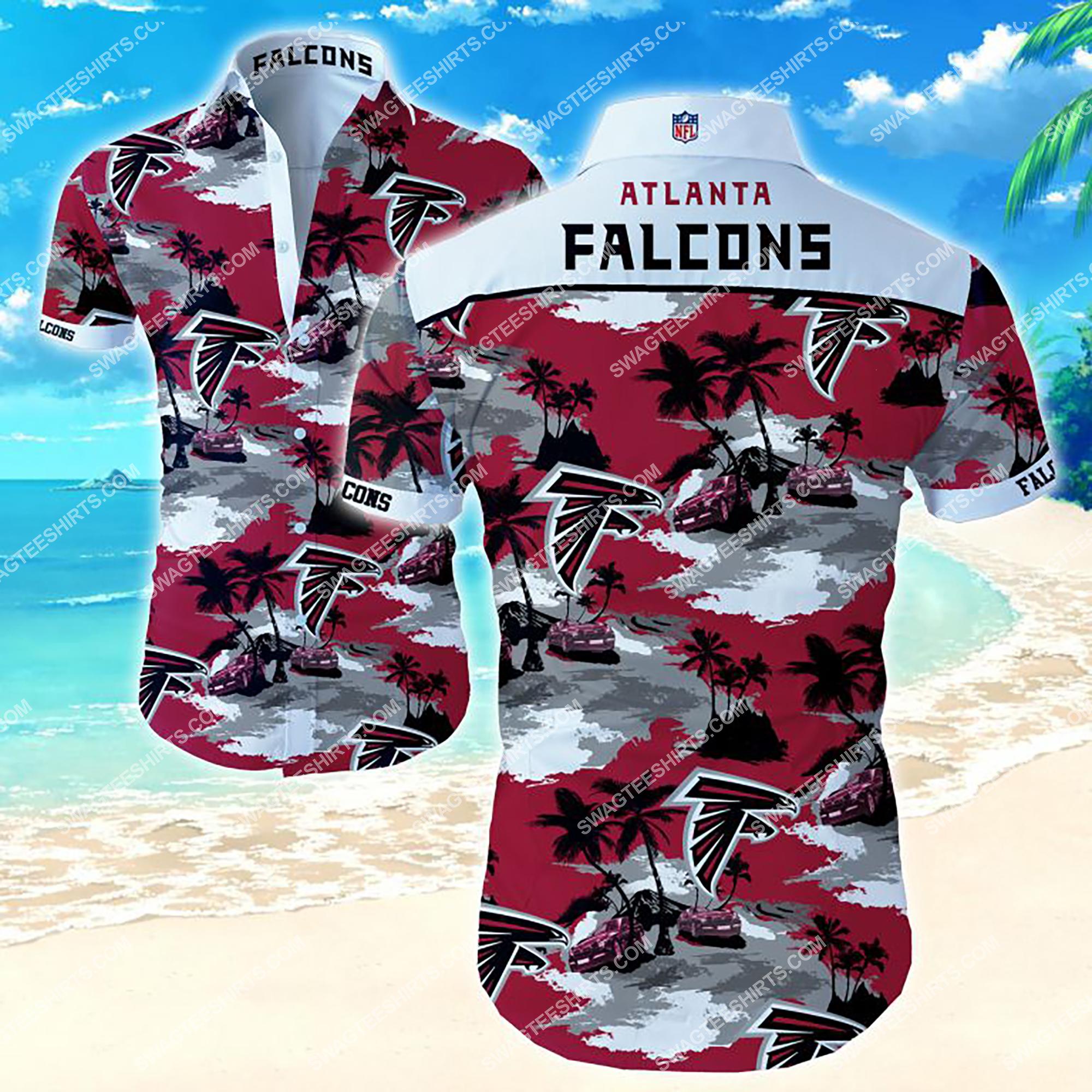 coconut tree and atlanta falcons team summer hawaiian shirt 2
