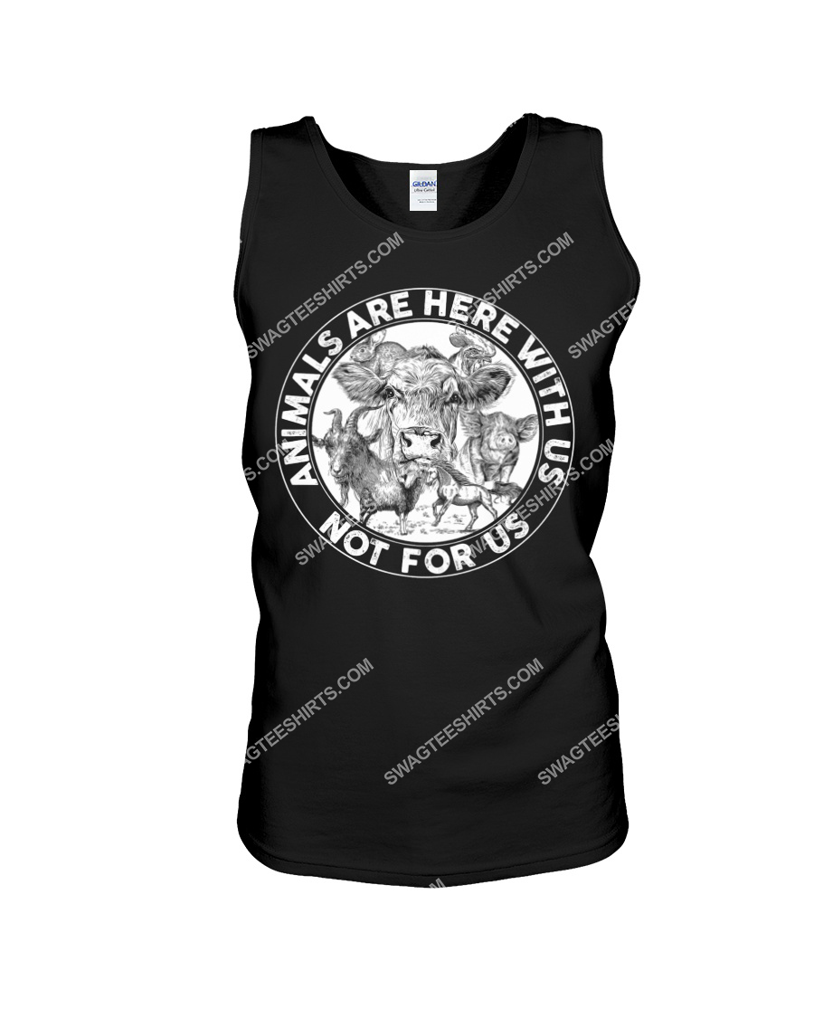 cows and pigs animals are not here for us save animals tank top 1