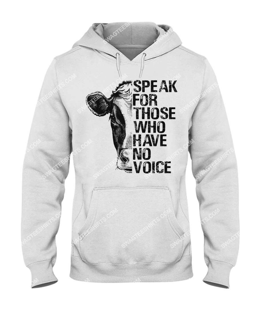 cows speak for those who have no voice save animals hoodie 1