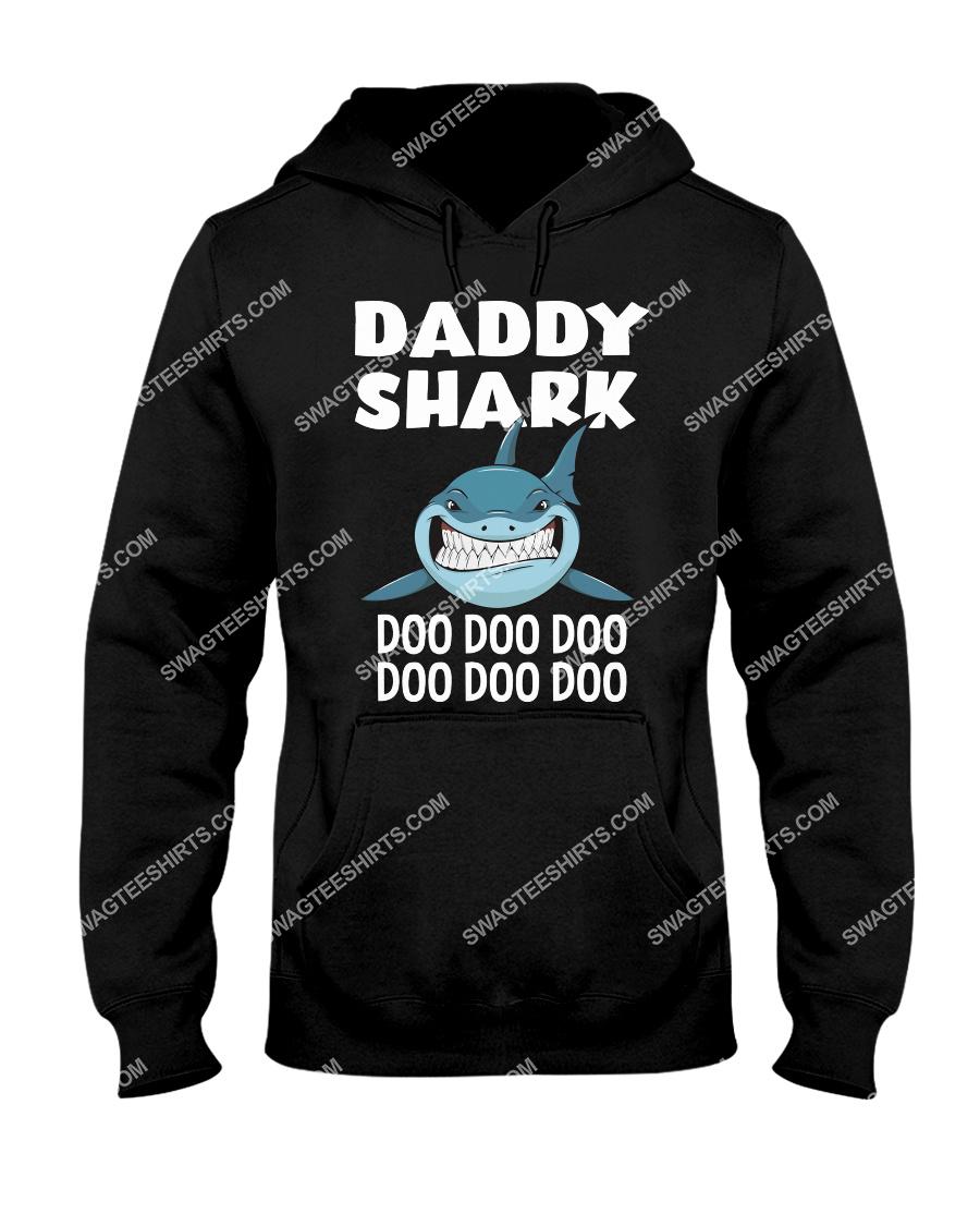 daddy shark doo doo doo fathers day hoodie 1