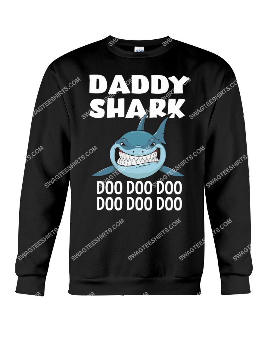 daddy shark doo doo doo fathers day sweatshirt 1