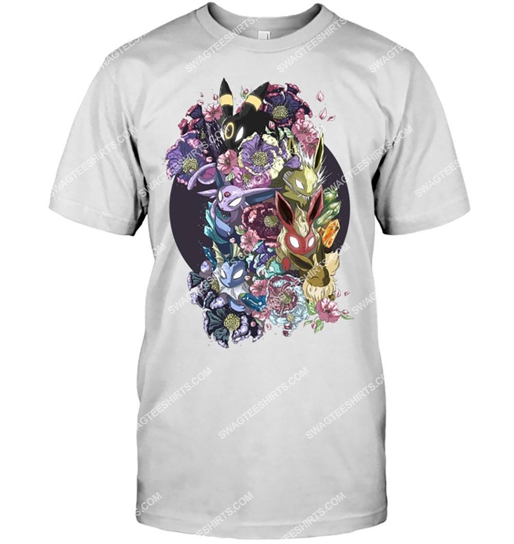 floral eeveelutions pokemon anime shirt 3(1)