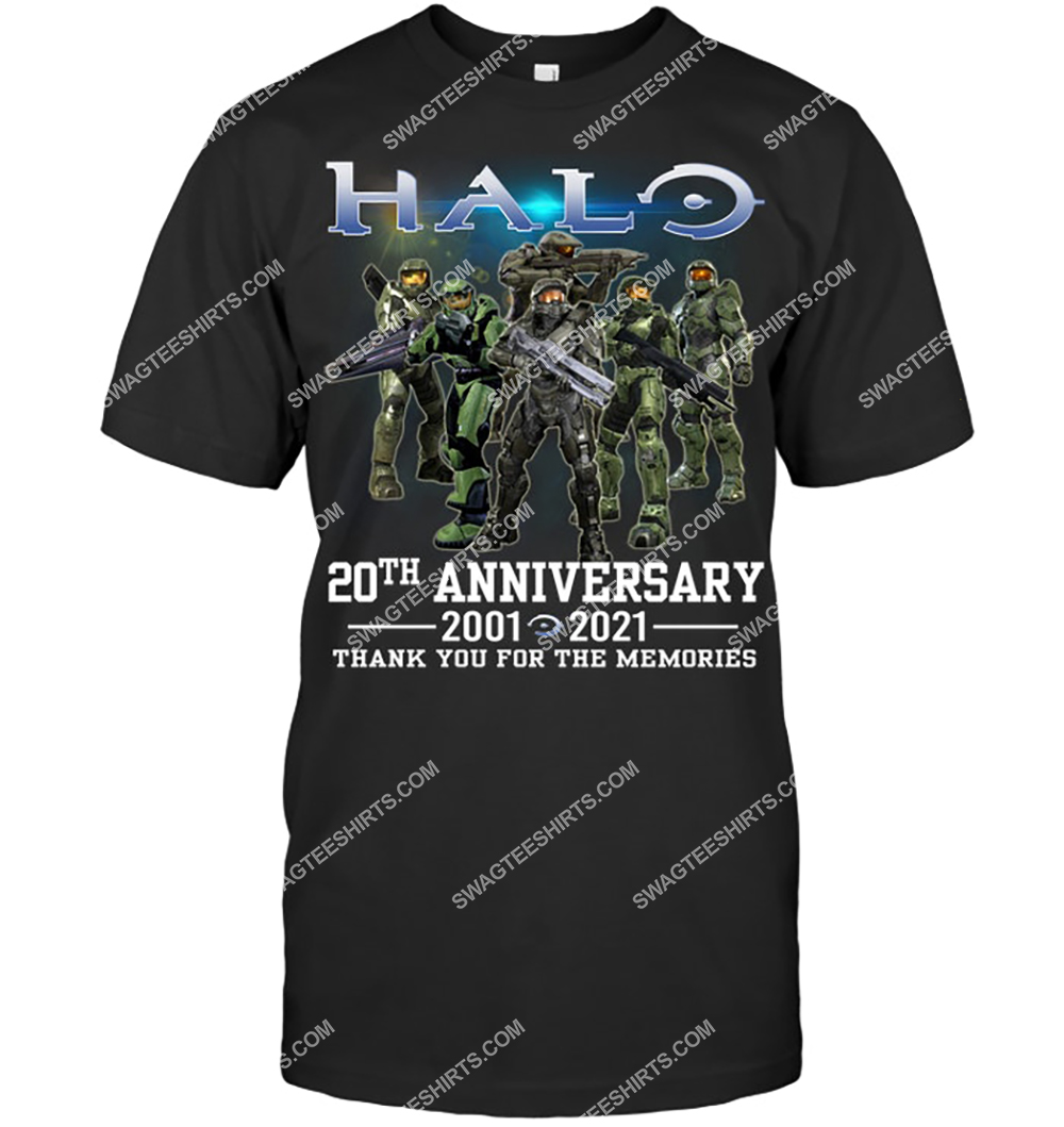 halo 20th anniversary 2020 2021 thank you for the memories tshirt 1 - Copy
